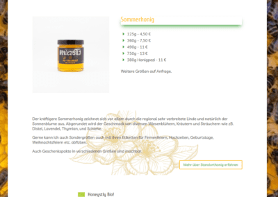 Bild: Produkt-Detail Honeystly