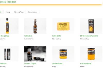 Bild: Produktübersicht Honeystly